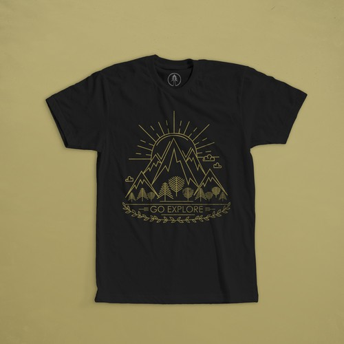 "Print for t-shirt  for company Fara Kanna, means ""Go Explore"" in an old norse language."