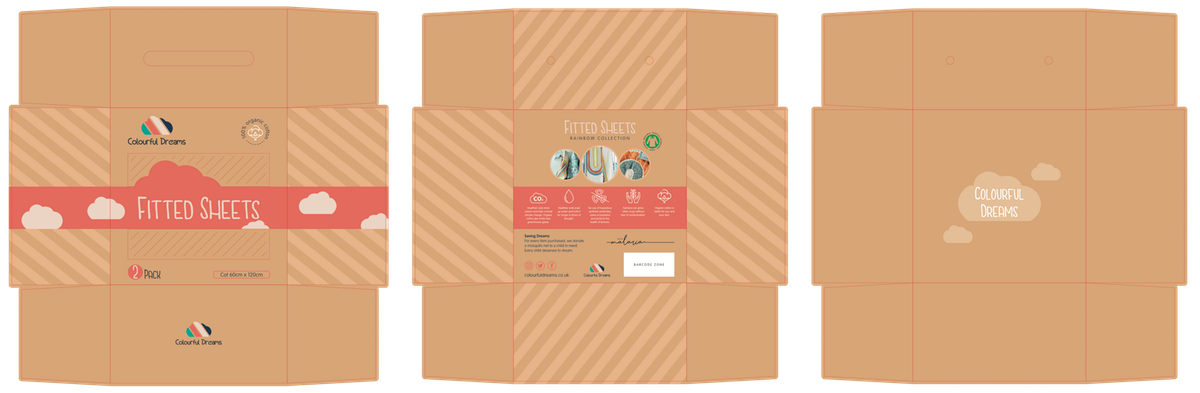 Packaging for organic cotton baby bedding