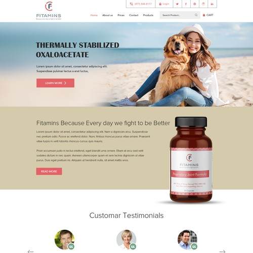 Drag & Medicine product sell landing page.