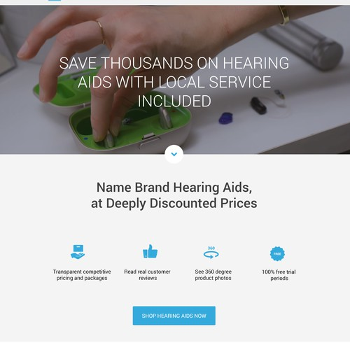 New Home Page concept for ZipHearing