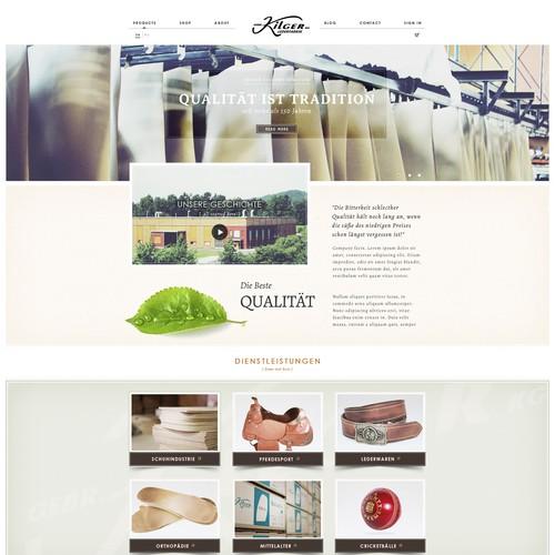 Kilger Lederfabrik benötigt ein website design