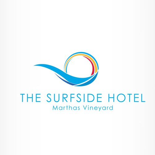 simple design logo for a hotel