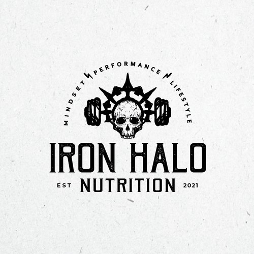 Bold, rustic logo for nutrition coaching services