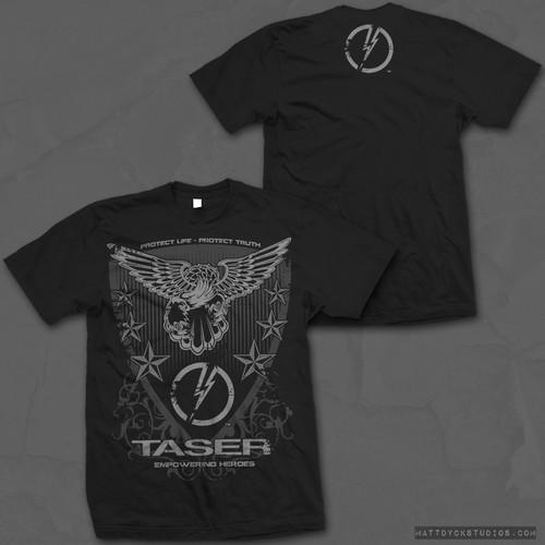 TASER T-shirt design