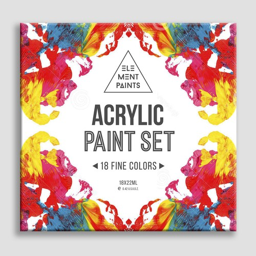 Create Packaging for Acrylic Paint Sets (Exciting New Brand) **Guaranteed contest and future work**