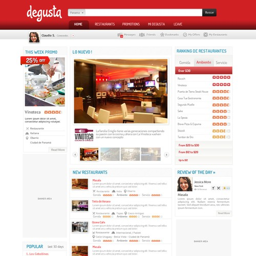Restaurant Guide web Redesign