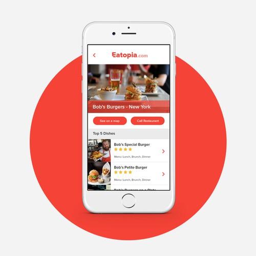 App Design for Restaurant Finder