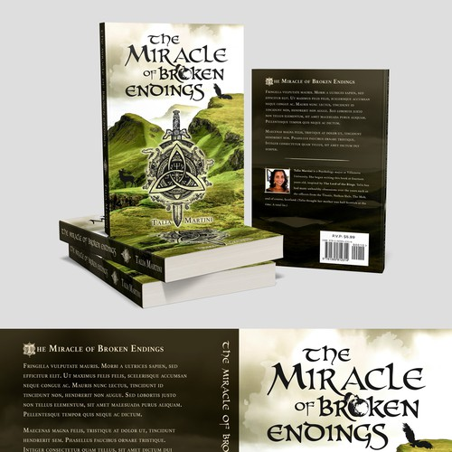 """Book cover """"The Miracle of Broken Endings"""" - Talia Martini"""