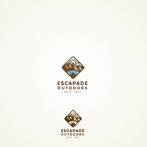 Logo concept for Escapade Outdoors