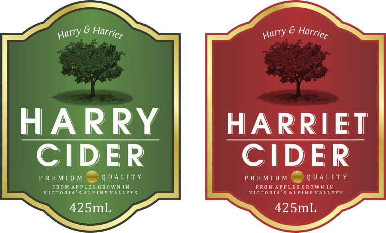 Harry Cider needs a new product label