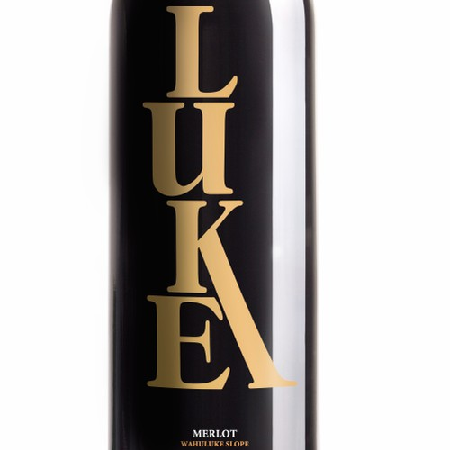 Create an amazing logo/brand image for LUKE Wines