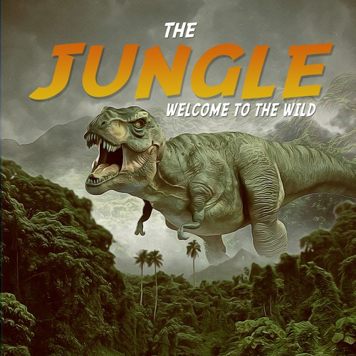 "Book cover design ""The Jungle""."