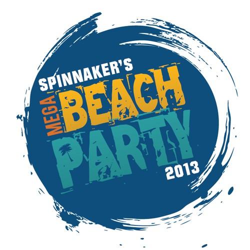Create the next logo for Spinnaker's Mega Beach Party