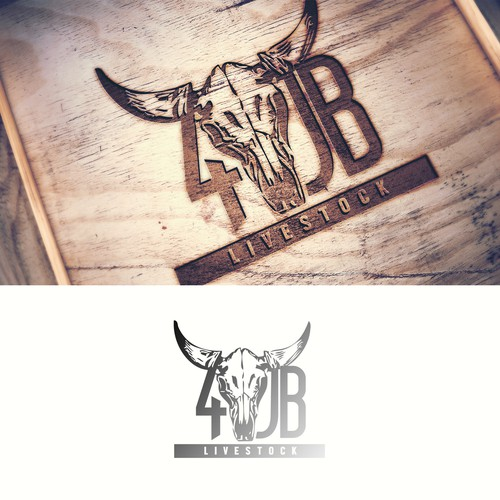 Rough Logo Design for Rodeo Cattle Sales