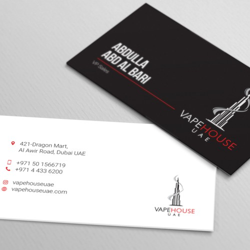 bold business card design concept