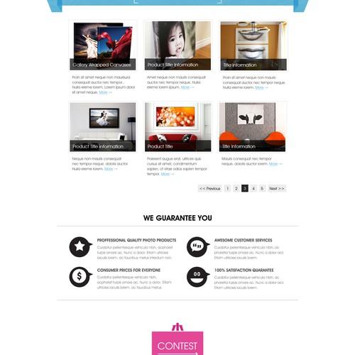 Homepage design for Pixuru.com