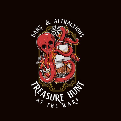 Octopus Treasure Logo Bar