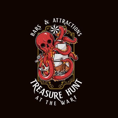 Octopus Treasure Logo Bar