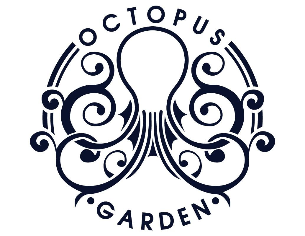 Luxury garden design logo for seaside resort in cape cod