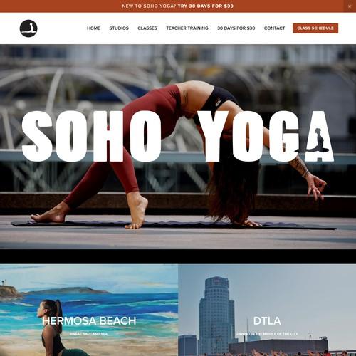 Beautiful visual experience for Yoga Studio