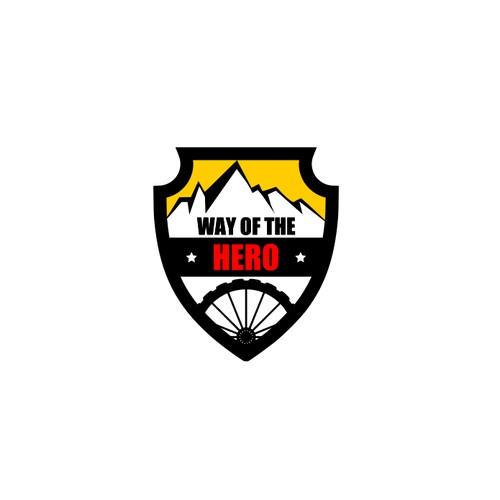 Logo concept for an organization that provides leadership courses through bicycle treks