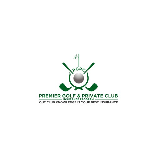 Create a sophisitcated design for an elite private Golf Club business program
