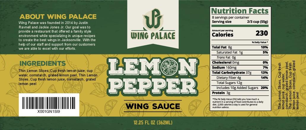 Design eye catching Lemon Pepper Sauce bottle Label