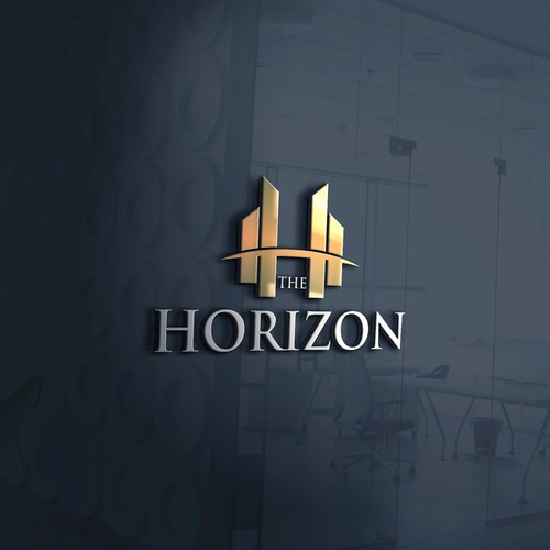 Strong, clean and professional logo concept for The Horizon.