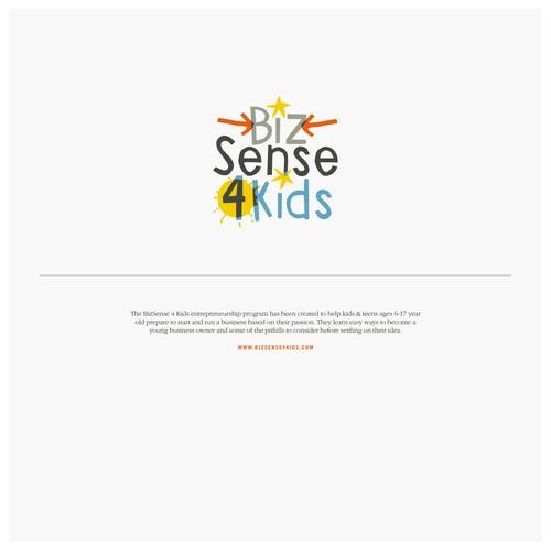 Buntes Logokonzept für eine Business-Plattform, die sich vor allem an Kinder und Jugendliche wendet