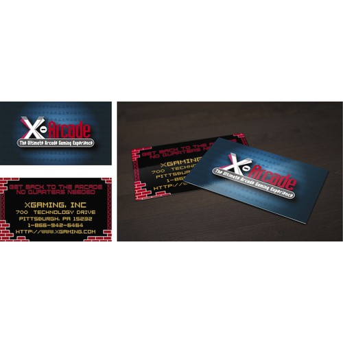 X-Arcade Business Card