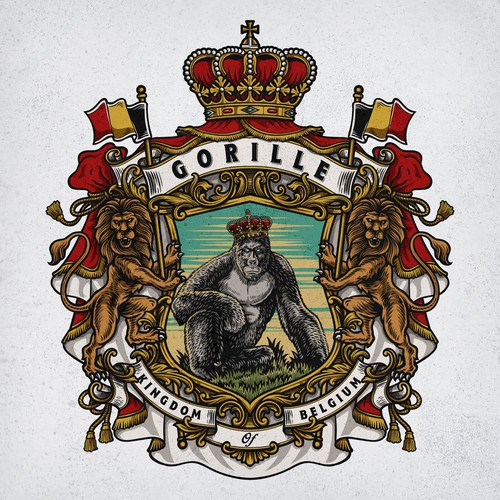 Family Crest logo for Gorille
