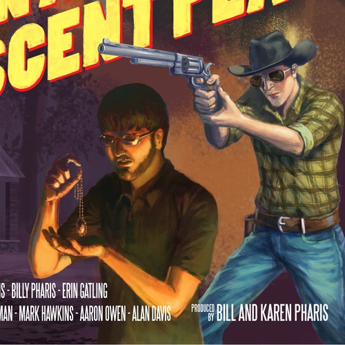 Pulp style movie poster