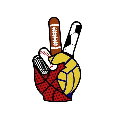 Cool logo for retired athlete website