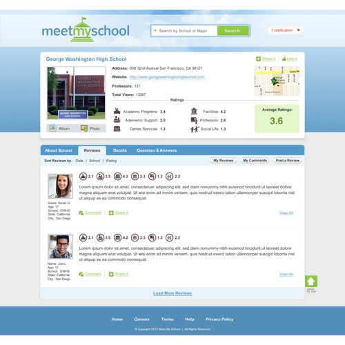 Meetmyschool needs a new website design