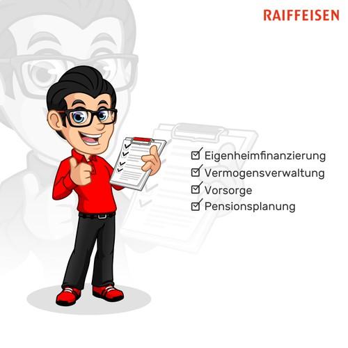 Mascot Design for RAIFFEISEN