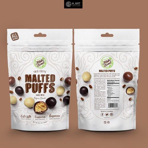 Trio Coffee Flavored Malt Puffs