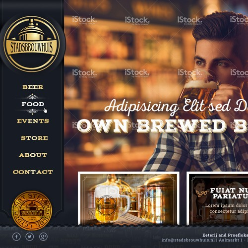 Website for a brewcafe