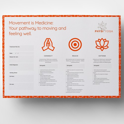 Signage & Handout for PhysiYoga