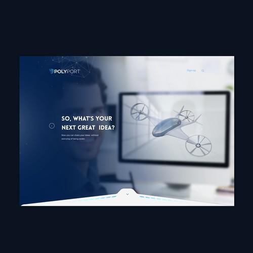 Futuristic website
