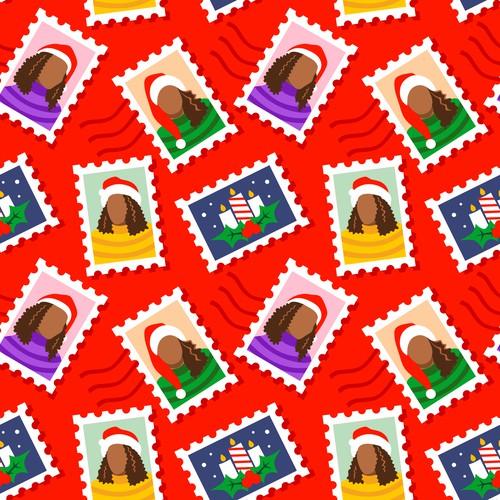 Black Women Christmas Theme Pattern