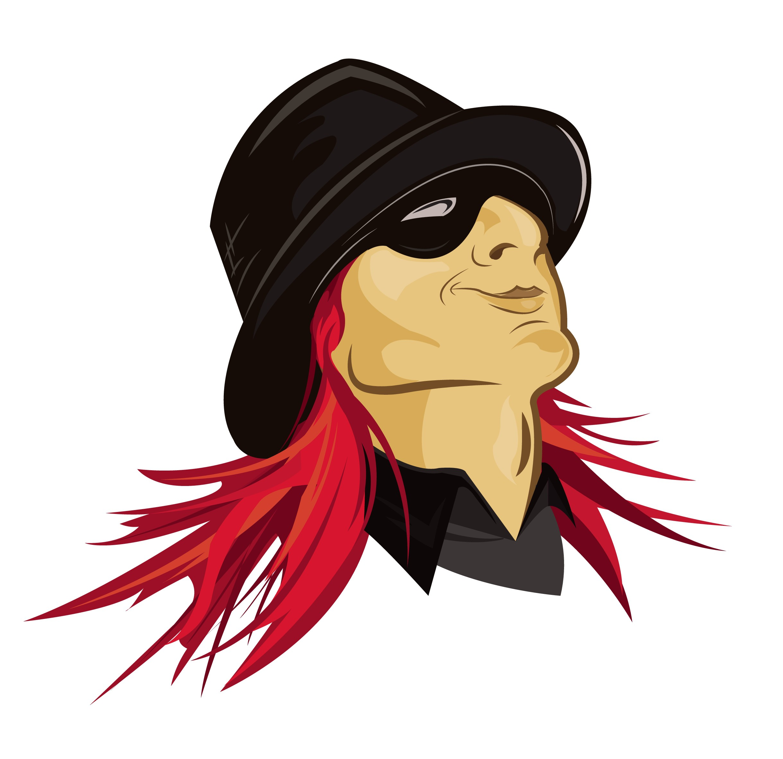 Red Headed Rebel Character Logo