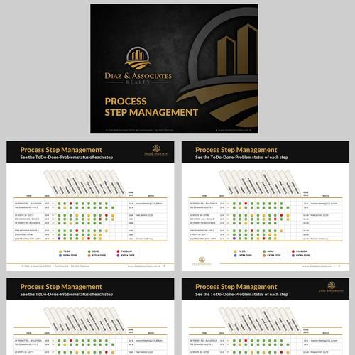 Custom Process Step Management Graphic