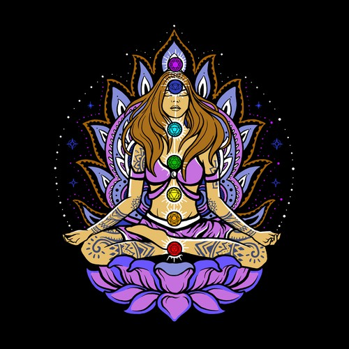Goddes Opening Up Chakras