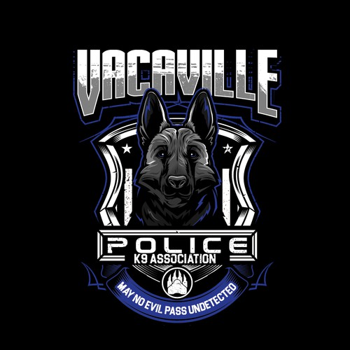 german shepherd dog illustration T_Shirt for VACAVILLE POLICE K( ASSOCIATION