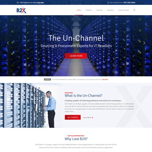 B2X Home Page Design