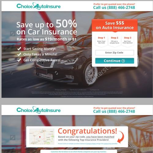 Auto Insurance Lead Generation Landing Page