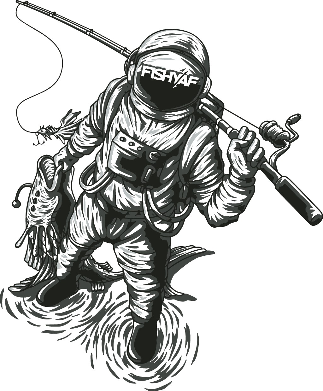 Astronaut Fisherman for FISHY AF