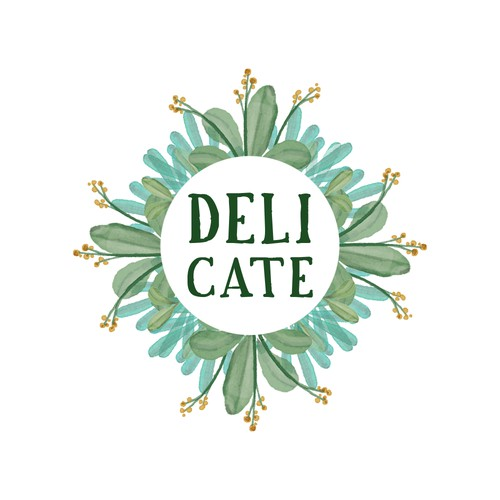Watercolor Logo for Delicate
