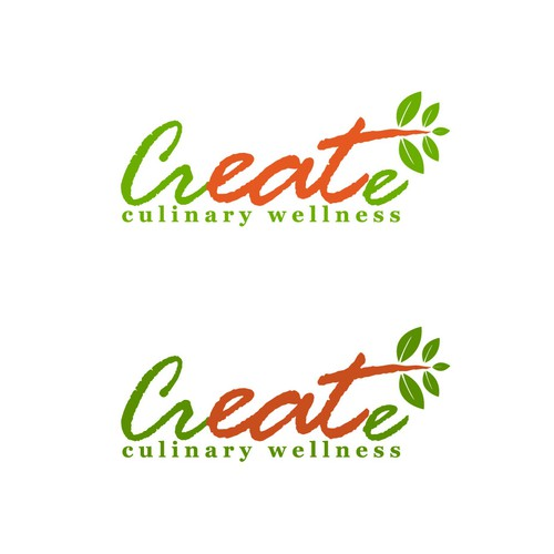 CREATIVE, simple and natural logo for culinary wellness