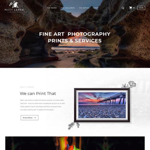 elegant website design for a high end photography website